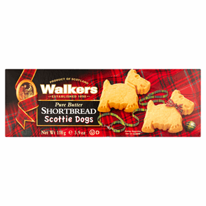 Walkers Pure Butter Scottie Dogs Shortbread 110g Image