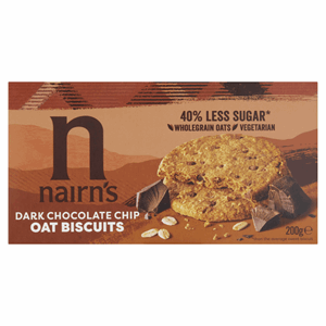 Nairn's Dark Chocolate Chip Oat Biscuits 200g Image