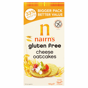 Nairn's Gluten Free Cheese Oatcakes 180g Image