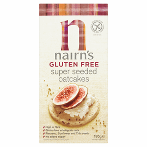 Nairn's Gluten Free Super Seeded Oatcakes 180g Image