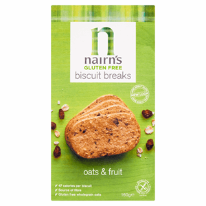 Nairn's Gluten Free Biscuit Breaks Oats & Fruit 160g Image