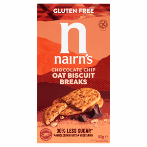 Nairn's Gluten Free Biscuit Breaks Oats & Chocolate Chip 160g Image