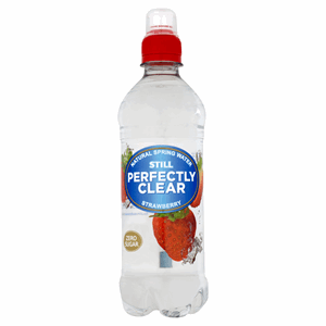 Perfectly Clear Still Natural Spring Water Strawberry 500ml Image