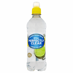 Perfectly Clear Still Natural Spring Water Lemon and Lime 500ml Image