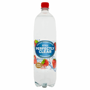 Perfectly Clear Still Natural Spring Water Strawberry 1.5L Image