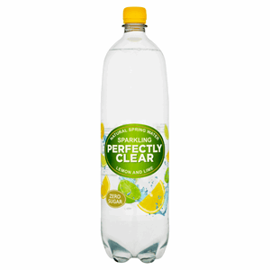 Perfectly Clear Sparkling Natural Spring Water Lemon and Lime 1.5L Image