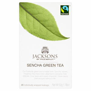 Jacksons Of Piccadilly Fairtrade Sencha Green Tea 20 Envelopes 50g Image