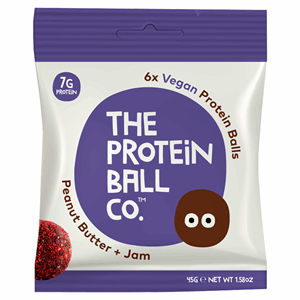 The Protein Ball Co. 6 Peanut Butter + Jam Vegan Protein Balls 45g Image