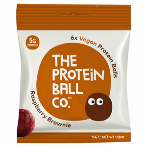 The Protein Ball Co. 6 Raspberry Brownie Vegan Protein Balls 45g Image