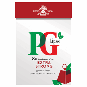 PG tips Extra Strong 80 Tea Bags 232g Image