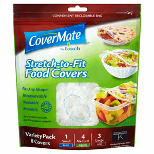 CoverMate by Touch Stretch-to-Fit 8 Food Covers Variety Pack Image