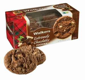Walkers Extreme Chocolate Cookies 150g Image