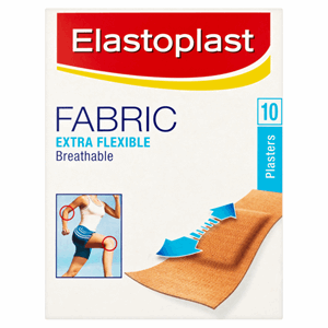 Elastoplast Fabric Extra Flexible Breathable 10 Plasters Image