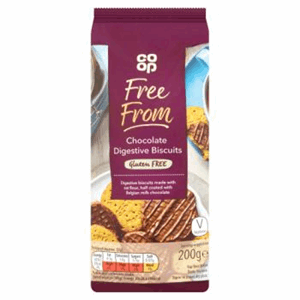 Co Op Free From Chocolate Digestive Biscuits 200g Image