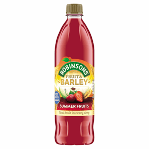 Robinsons No Added Sugar Fruit & Barley Summer Fruits 1L Image