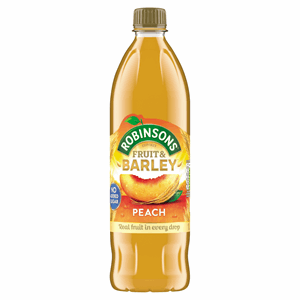 Robinsons No Added Sugar Fruit & Barley Peach 1 Litre Image