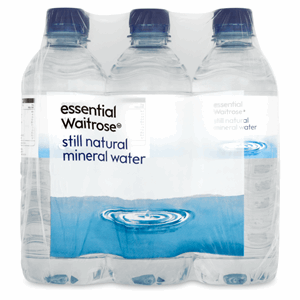 Essential Waitrose Still Natural Mineral Water Screw Cap 6 x 500ml Image