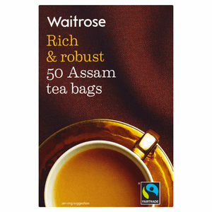 Waitrose Fairtrade 50 Assam Tea Bags 125g Image
