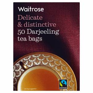 Waitrose Fairtrade 50 Darjeeling Tea Bags 125g Image