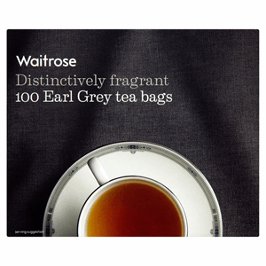 Waitrose 100 Earl Grey Tea Bags 250g Image