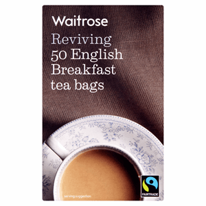Waitrose Fairtrade 50 English Breakfast Tea Bags 125g Image