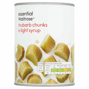 Essential Waitrose Rhubarb Chunks in Light Syrup 560g Image