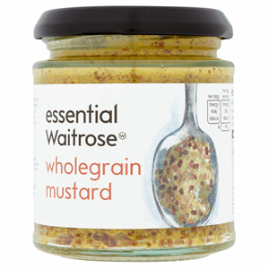 Essential Waitrose Wholegrain Mustard 185g Image