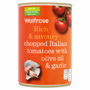 Waitrose Chopped Italian Tomatoes with Olive Oil & Garlic 400g Image
