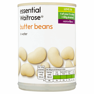 Essential Waitrose Butter Beans in Water 400g Image
