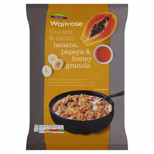 Waitrose Banana, Papaya & Honey Granola 1kg Image
