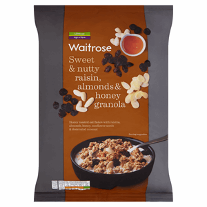 Waitrose Raisin, Almonds & Honey Granola 1kg Image