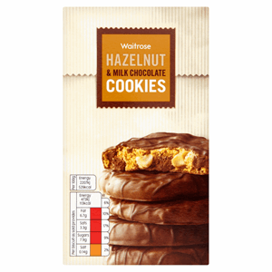 Waitrose Hazelnut & Milk Chocolate Cookies 150g Image