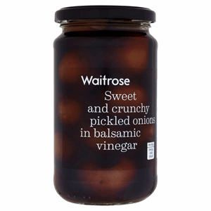 Waitrose Pickled Onions in Balsamic Vinegar 454g Image