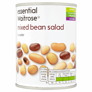 Essential Waitrose Mixed Bean Salad in Water 400g Image