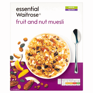 Essential Waitrose Fruit and Nut Muesli 500g Image
