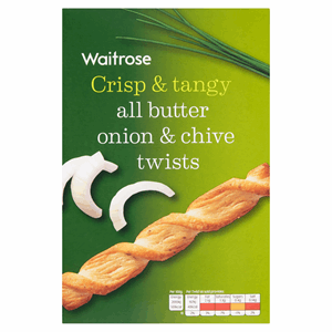 Waitrose All Butter Onion & Chive Twists 125g Image