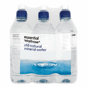 Essential Waitrose Still Natural Mineral Water Sports Cap 6 x 500ml Image