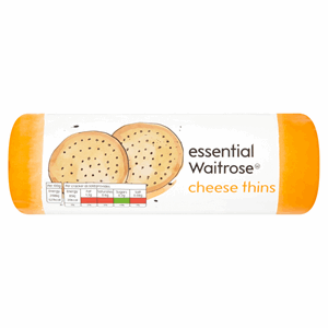 Essential Waitrose Cheese Thins 150g Image