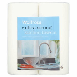 Waitrose 2 Ultra Strong Kitchen Towels Image