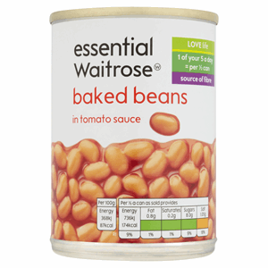Essential Waitrose Baked Beans in Tomato Sauce 400g Image