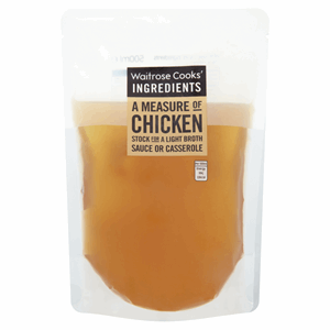 Waitrose Cooks' Ingredients A Measure of Chicken Stock 500ml Image