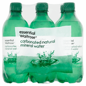 Essential Waitrose Carbonated Natural Mineral Water 6 x 500ml Image