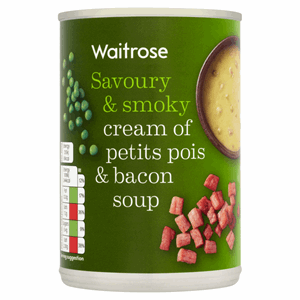 Waitrose Cream of Petits Pois & Bacon Soup 400g Image