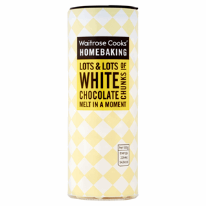 Waitrose Cooks' Homebaking White Chocolate Chunks 100g Image