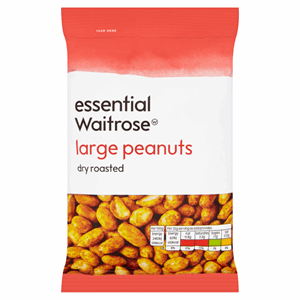 Essential Waitrose Large Peanuts Dry Roasted 200g Image