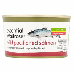 Essential Waitrose Wild Pacific Red Salmon 213g Image