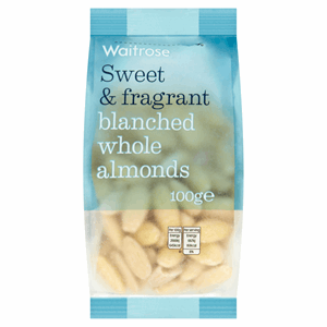 Waitrose Blanched Whole Almonds 100g Image