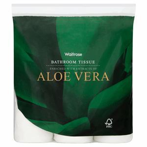 Waitrose Bathroom Tissue Aloe Vera 9 Rolls Image