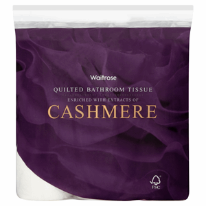 Waitrose Quilted Bathroom Tissue Cashmere 9 Rolls Image