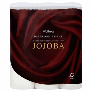 Waitrose Bathroom Tissue Jojoba 9 Rolls Image